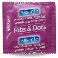 Pasante kondomy Ribs-Dots - 1 ks